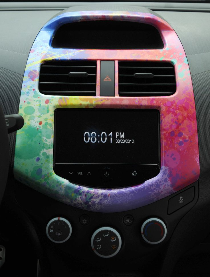 The interior of our custom @The Color Run . Chevy Spark brings color to your life. #TieDye