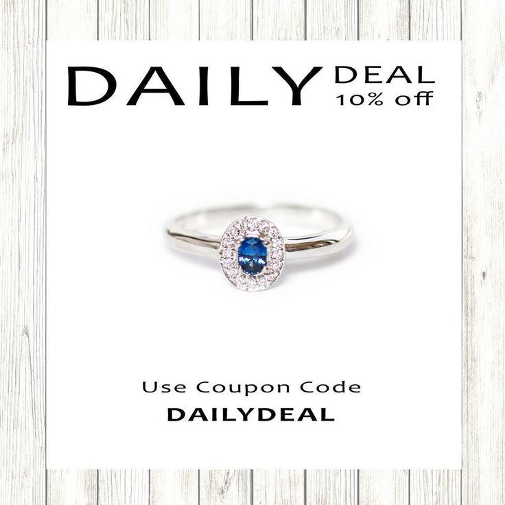 Our Daily Deal Flash Sale is back with -10% off this dainty Ceylon blue sapphire, diamond halo solid 14k white gold set ring. Use coupon code: DAILYDEAL10.Buy them via the website here:https://shop.sarahhughes.net/products/ceylon-sapphire-oval-and-white-diamond-halo-14k-white-gold-ring-size-7-ready-to-ship-or-resizeO
