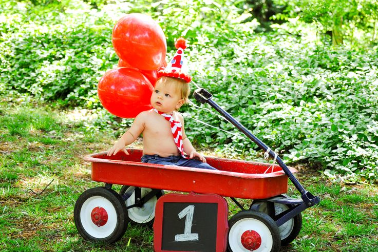 Photo I used for his little red wagon themed 1st birthday party