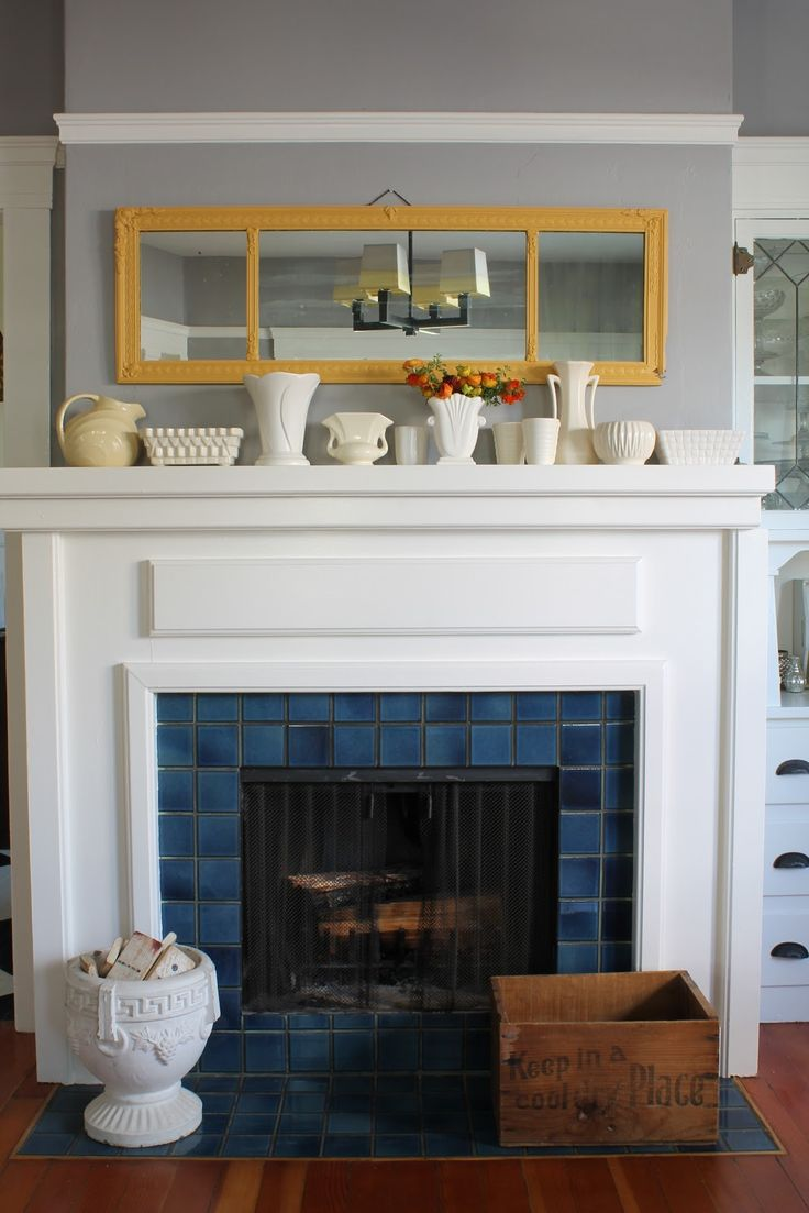Arts and crafts mantel - The Vintique Object Laura S House Tour Part I