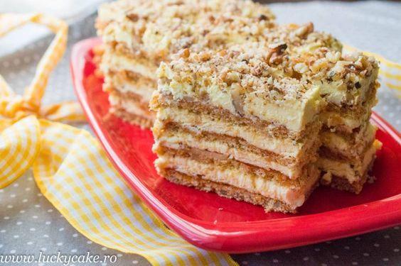 Prajitura Brulee este o prajitura e una deosebit de fina ! Are crema de vanilie , blat de nuca si zahar ars. Merita sa o incercati !