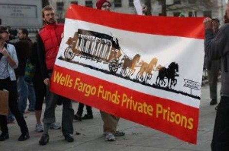 Due to Wells Fargo's criminal role in the 2008 sub-prime mortgage scheme, Congress rewarded the bank with $37B in bailouts with its CEO John Stumpf taking home $18M in compensation. Using the public's money Wells Fargo has since acquired Wachovia bank and purchased over $87M in shares of the GEO group--2nd largest jailer in the US—and seeks to incarcerate human beings (not for crime, but for profit), targeting immigrants at federally-funded/privately owned detention centers.