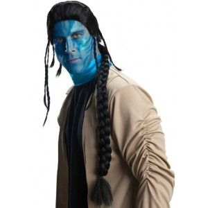 Perruque avatar Jake sully deluxe sous licence officielle AVATAR Film de James Cameron's pour adulte