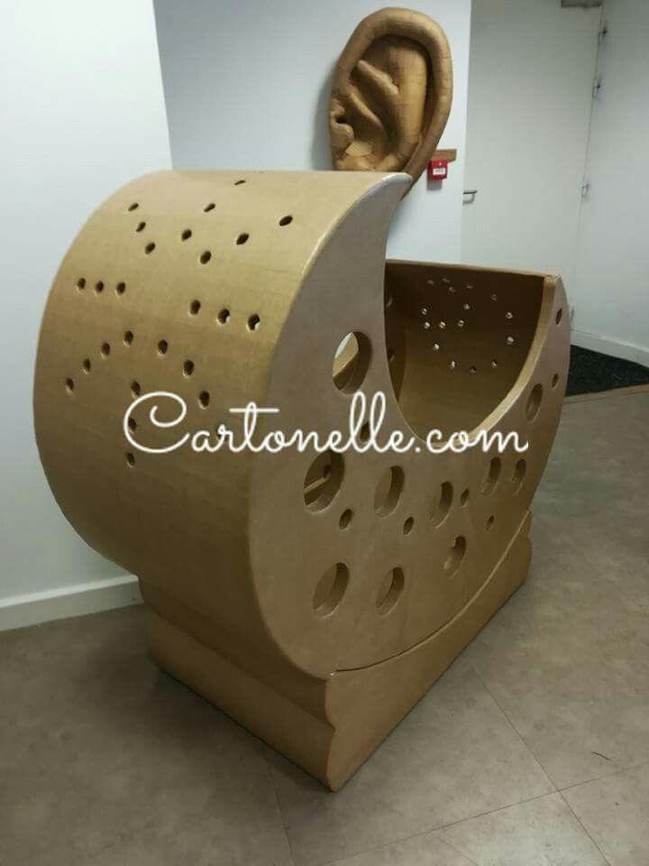 Cartonelle Mobilier Pour Enfant Lit Lune Carton Ideas Cardboard Furniture Cardboard Design Et Paper Furniture