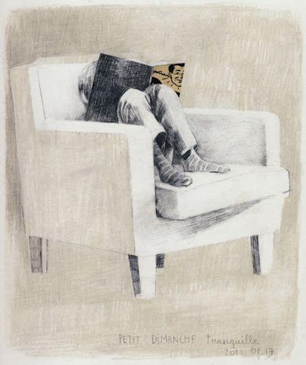 Je trouve que ce tableau me représente un peu. Parce que j'aime bien lire toute seule dans mon coin à moi... La dimension de la chaise est très bien fait. Les couleurs son pâle, mais belle. Ce que je trouve beau, ce sont les coups de crayon que l'on remarque à l'arrière.