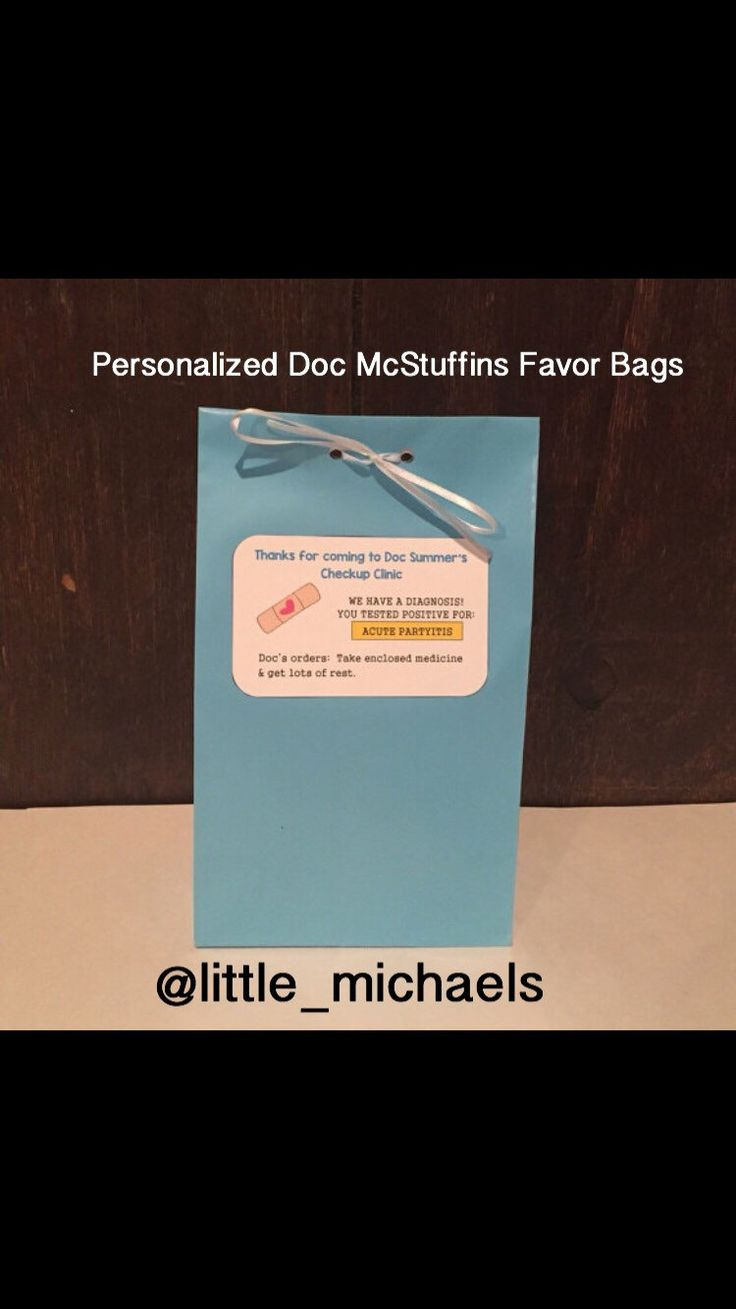 Set of 10-Personalized Doc Mcstuffins Birthday Party Favor Bags, Doc Mcstuffins Treat Bags, Doc Mcstuffins Goody Bags (Ribbon Included) by LittleMichaels on Etsy https://www.etsy.com/listing/236503063/set-of-10-personalized-doc-mcstuffins