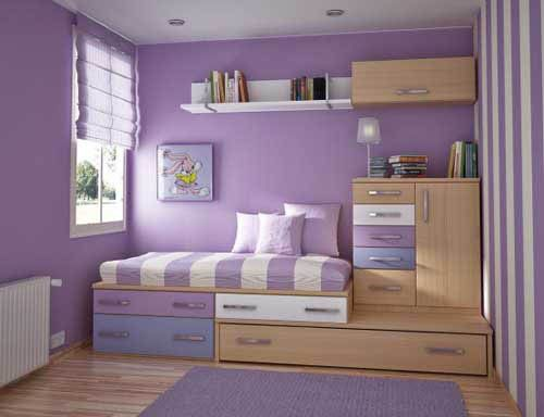 Violet Modern Sweet Teen Room Design Decorating Ideas 01