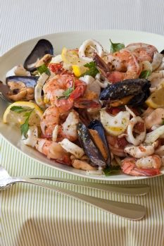 Italian style seafood pasta recipe