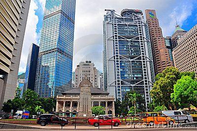 A view of hong kong's metropolitan cityscape