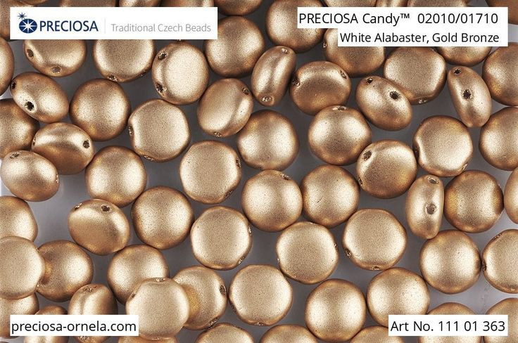 PRECIOSA Candy™  pressed beads PRECIOSA ORNELA presents the new PRECIOSA Candy™ pressed bead from the PRECIOSA Traditional Czech BeadsTM brand. PRECIOSA Candy™ is two-hole low cabochon with a round base with a diameter of 6 mm, 8 mm, 12 mm. The shallow curvature in the lower section greatly simplifies sewing round and joining up the beads or their use with other seed beads and selected beads from the PRECIOSA Traditional Czech Beads™ brand.   Visit our website for more information about the…