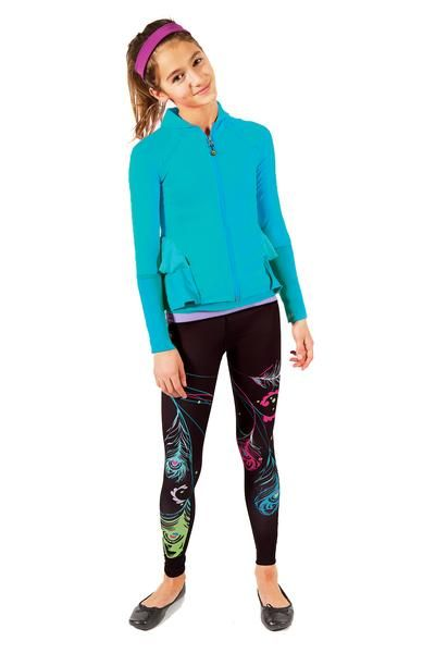 Feather Printed Leggings - how fabulous are these!