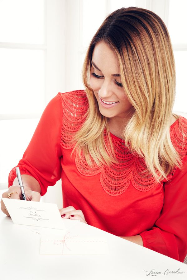 Lauren Conrad's Tip for Writing Thank You Notes {a must-read after the holidays}
