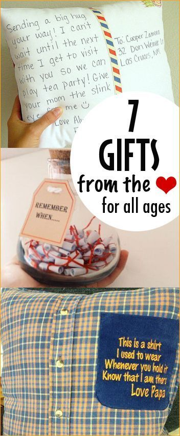 7 Gifts From The Heart Sentimental Gifts For All Ages Homemade Christmas Gifts Everyone