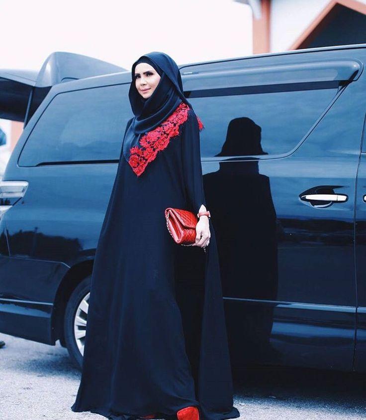 Long dress, abaya, syari hijab fashion, hijab dress, hijab outfit, hijab fashion. Follow her ig @rozitachewan1