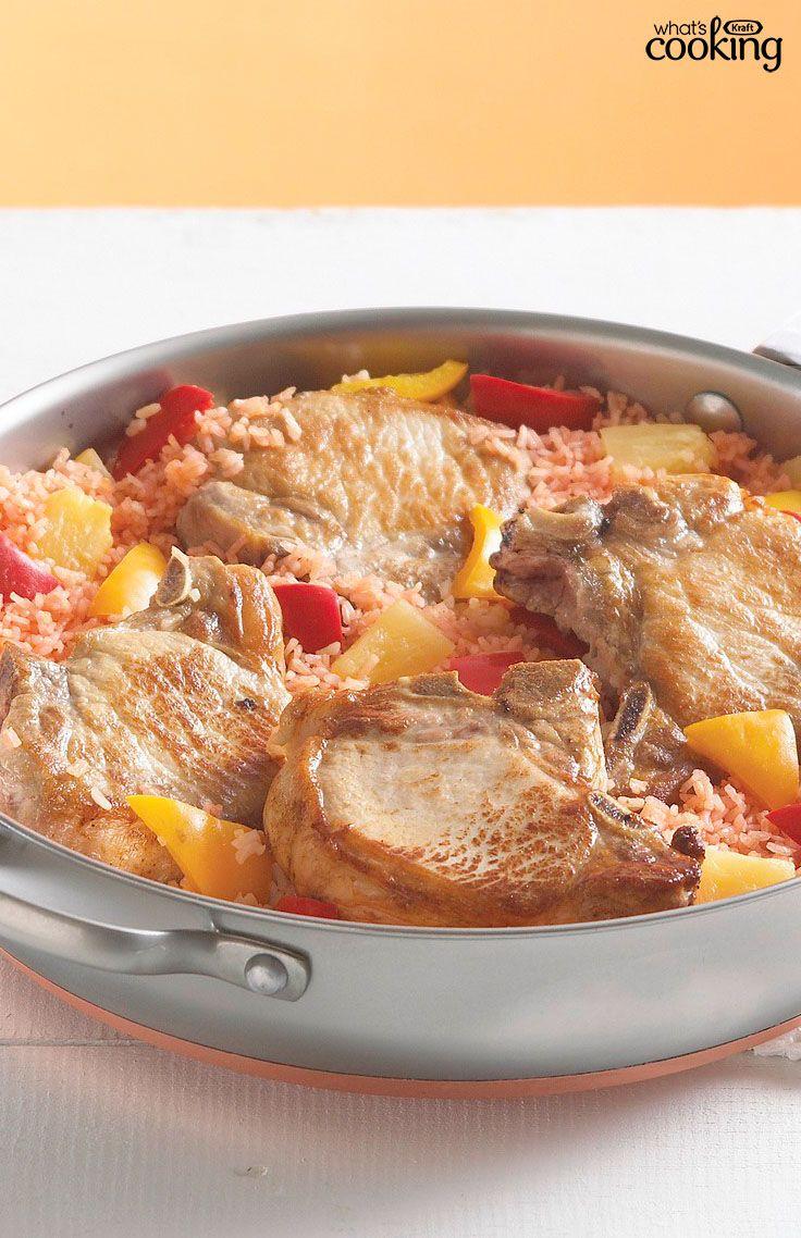 Aloha Pork Chop Skillet #recipe