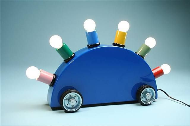Lamp Super! van Martine Bedin, 1981, Memphis Stijl
