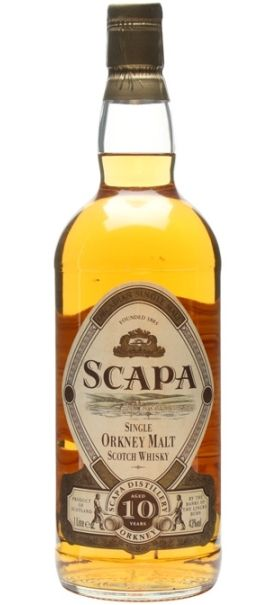 First official bottling of Scapa 10 yo Single Orkney Malt Scotch whisky from 80s/90s