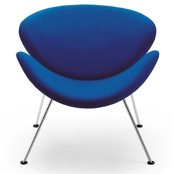 "sedia ""Orange Slice"" 1960 (78x83x68 scocca in legno di faggio, acciaio)  Pierre Paulin  (Parigi 1927 - Montpellier 2009) Artifort Olanda"