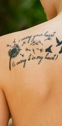 [i carry your heart with me(i carry it in] by E.E. Cummings | 23 Epic Literary Love Tattoos