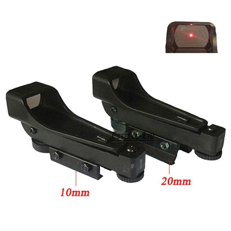 Nuevo Tactical Reflex sight Red Dot Sight Alcance de Visión Amplio Rifle de Aire 10/20mm Carril Del Tejedor Mounts1x20x30 Telescópica Airsoft
