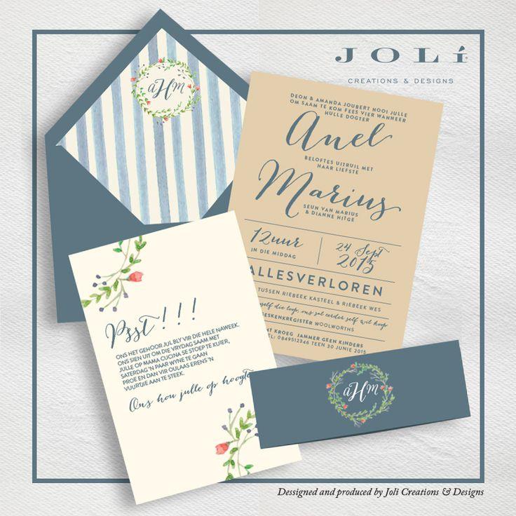Blue and natural wedding invitations #makeitamomenttoremember