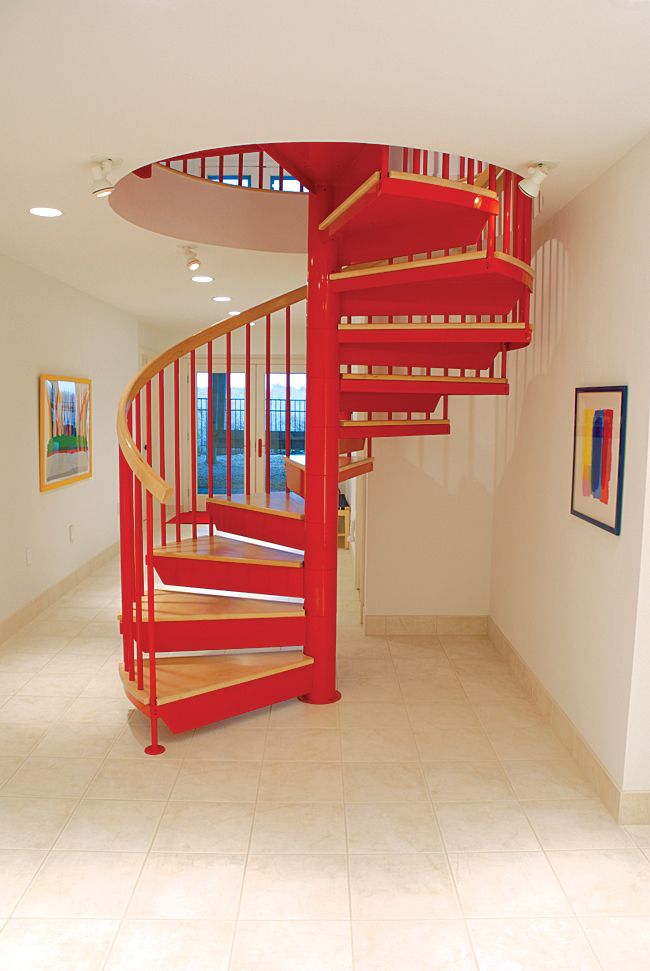 60 best indoor spiral stairs images on pinterest spiral for Square spiral staircase plans