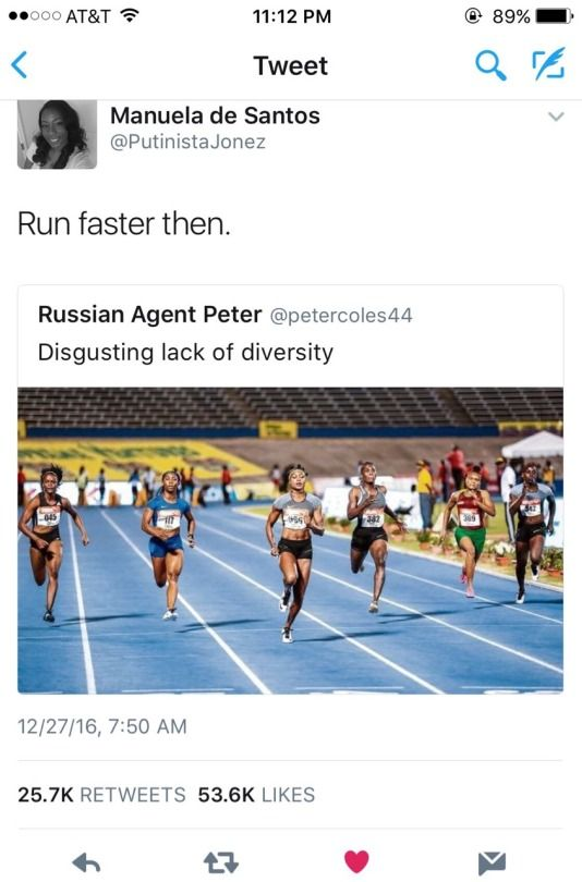 hmm. it's a scientific fact that people (women specifically) of african descent have lean, curvy bodies and muscular legs so it's generally easier for them to run fast,,