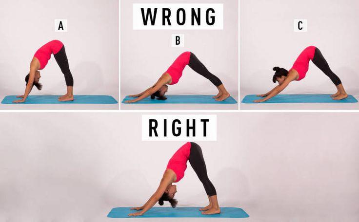 4 Common Yoga Poses You're Doing Wrong | COSMO Body | Yoga ...