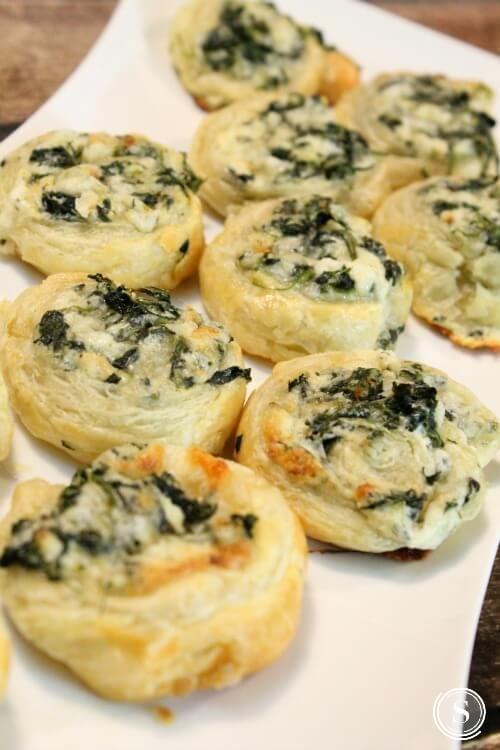 Creamy Spinach Bites Easy Recipe! Super Bowl Appetizer Recipe for a Bite Sized Mini Snack!