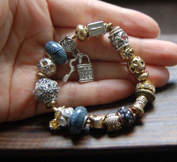 handmade beaded bracelets.metalchainjadecrystalSilver by bijouroom, $36.00