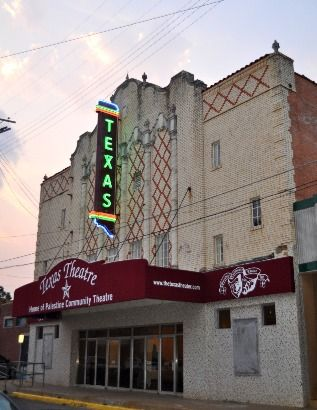 """Texas theater, Palestine TX.  """" right up the road from hometown"""""""