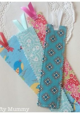 Elegant Fabric Scrap Bookmarks