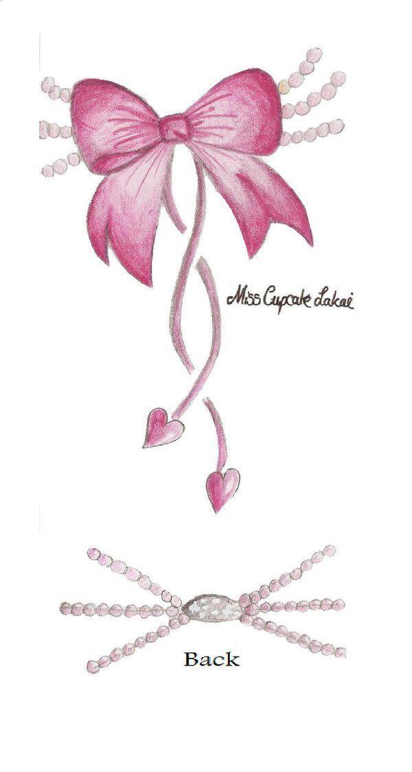 Pink Pearl Bow Tattoo by ~Cupcake-Lakai on deviantART