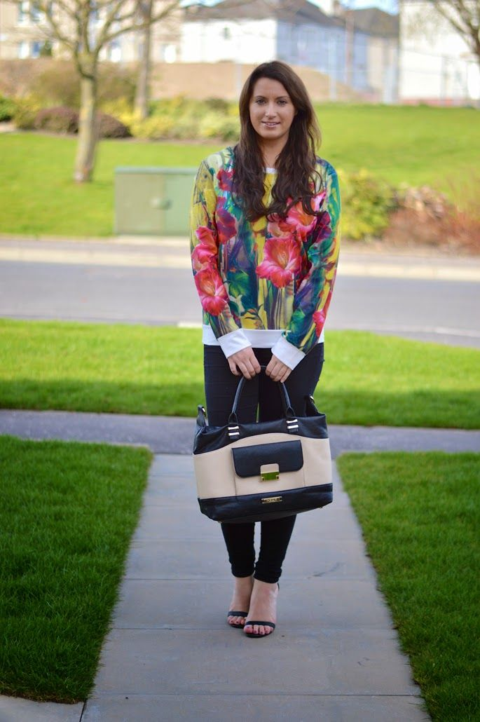 A Touch Of Tartan in the Narina Floral Print Sweater Top