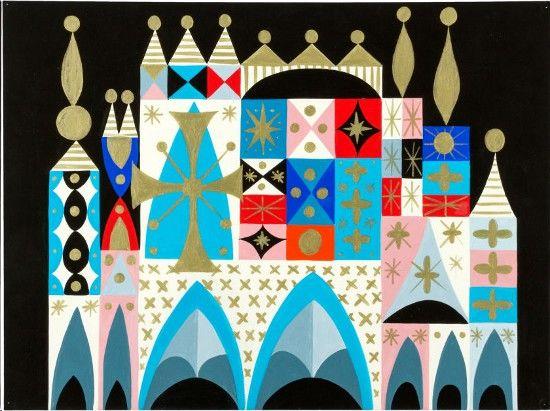 Mary Blair's Small World concept art