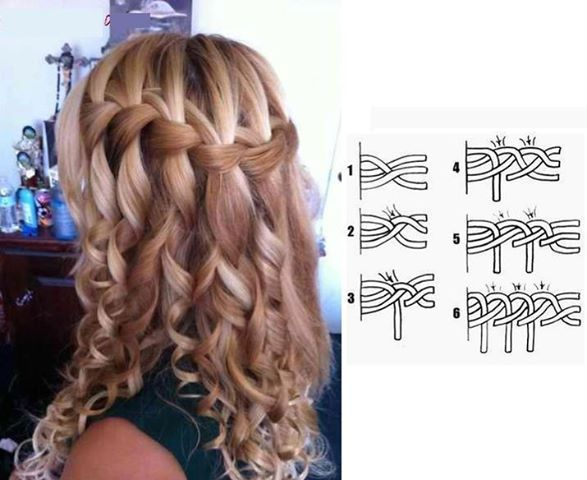 Waterfall Braid o La Trenza de Cascada Perfect for any occasion and very easy to do Perfecta