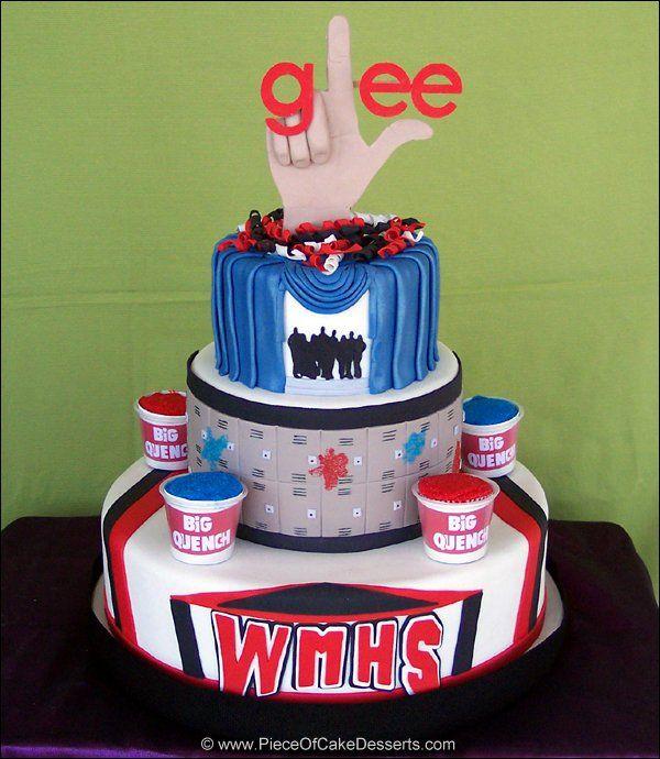 Glee: Dreams Cakes, Happy Birthday, Birthday Parties, 22Nd Birthday, 16Th Birthday, Wedding Cakes, Glee Cakes, Sweet Cakes, Birthday Cakes
