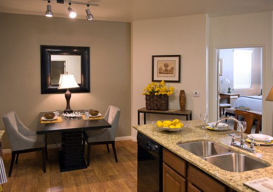 1 Bedroom Apartment Dining Room. Love the decor!