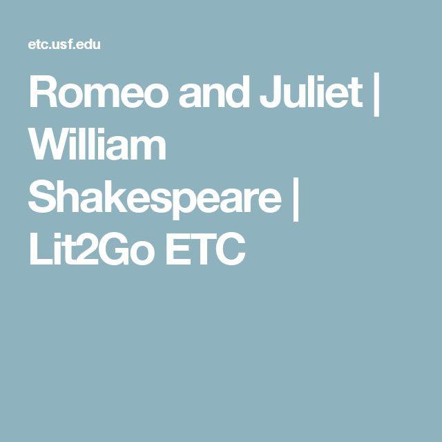 Romeo and Juliet | William Shakespeare | Lit2Go ETC