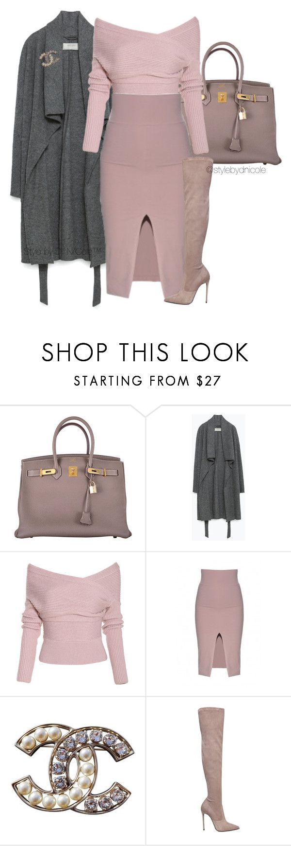 """""""Untitled #3125"""" by stylebydnicole ❤ liked on Polyvore featuring Hermès, Zara, Chanel, Le Silla, women's clothing, women's fashion, women, female, woman and misses"""