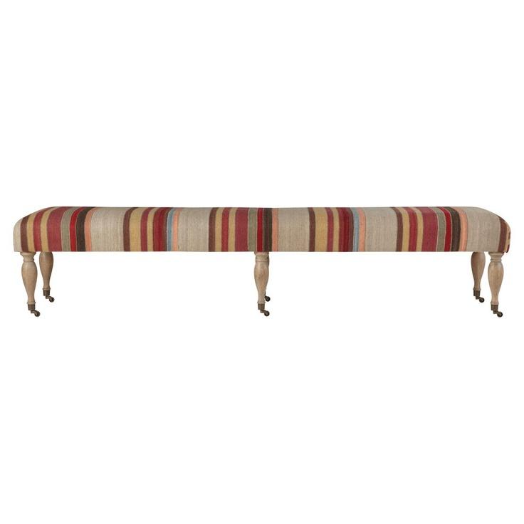 ashbourne upholstered wool dining bench large