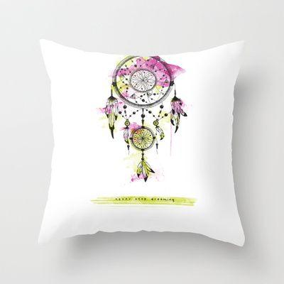 Dreamcatcher Throw Pillow by Klaff Design - $20.00