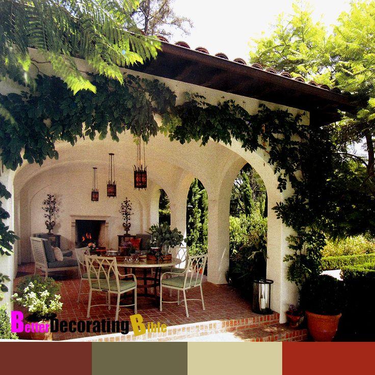 Hacienda style garden love pinterest outdoor living for Hacienda design ideas