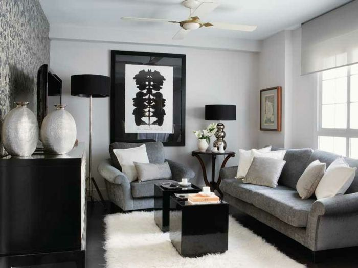 794 Best Wohnzimmer Ideen Images On Pinterest | Living Room Ideas ... Wohnzimmer Grau Weis Design