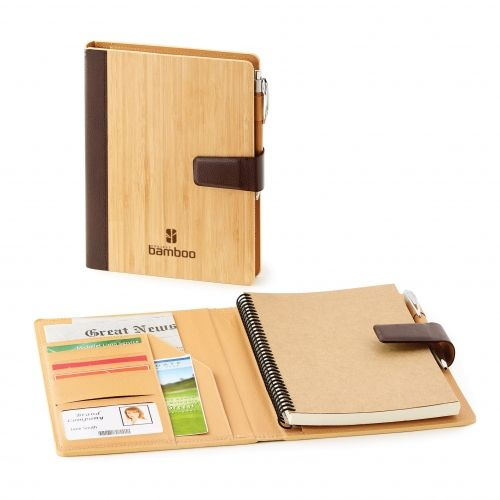 Gorgeous Bamboo refillable journal