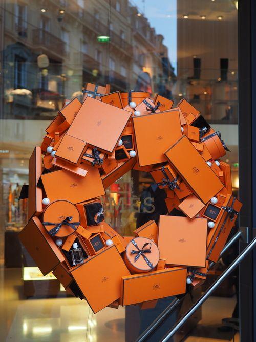 Hermes Store wreath in Strasbourg