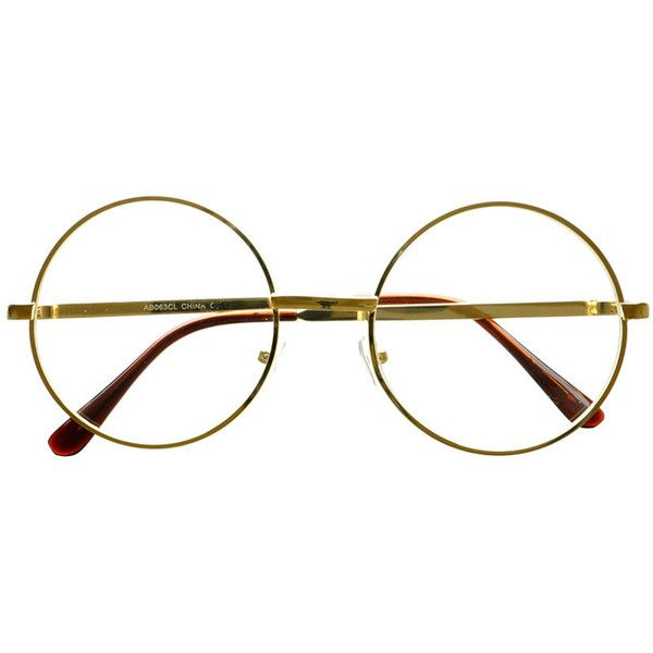 Clear Lens Retro Vintage Style Metal Round Eye Glasses Frames R52... ($5) ❤ liked on Polyvore featuring accessories, eyewear, eyeglasses, glasses, accessories - glasses, fillers, sunglasses, clear glasses, vintage style glasses and retro eye glasses