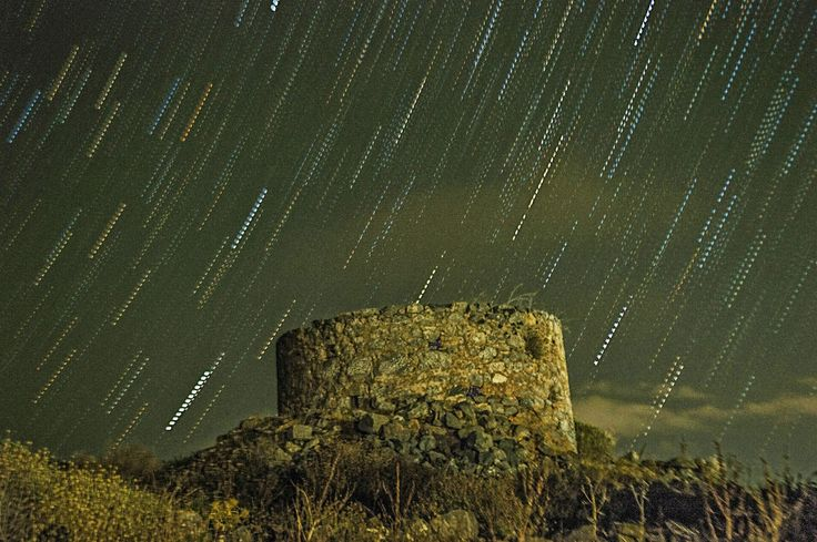 Stavros Tzovaras Photography: Star trails at the old grinder in Kastelli Fournis -Crete