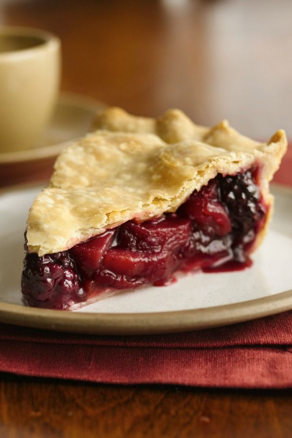 A must-try state fair pie with fresh blackberries, apples, cinnamon and nutmeg!