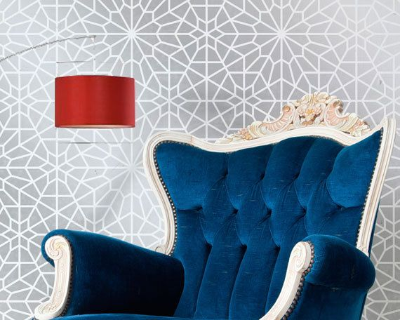 Large Moroccan Wall Stencil Large Starry Moroccan Night for Wall or Floor Painting